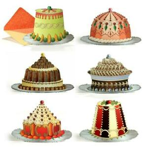 6 Mrs Beetons Cakes & Puddings Die-cut Greeting Cards (EW)