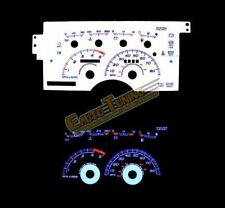 White Indiglo Gauge Kit Glow BLUE Reverse for 92-94 C1500 K1500 Suburban 5.7L V8