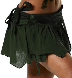 STEAMPUNK SKIRT, pixie skirt, elf skirt, GEKKO wrap skirt, steampunk clothing