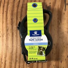 TOP PAW RETRACTABLE TAPE LEASH SMALL 10FT UP TO 45LBS Black