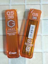 Pilot Neox Graphite pencil lead 3B 0.5mm x 2 tubes x 40pcs x 60mm FREE SHIPMENT