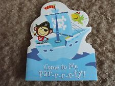 "8 Child's party invitation cards, for boys,  5""x4"" American Greetings"