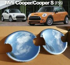 DELUXE Door Handle Bucket Covers x2 for MINI Cooper F56 F57 2014 ON ROYAL CHROME