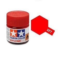 Tamiya Colore acrilico ROSSO OPACO pennello plastica metallo TAMIYA XF-7 10ml