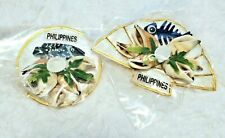 Philippines Magnets Lot of 2 with Shells Travel Souvenir New in plastic