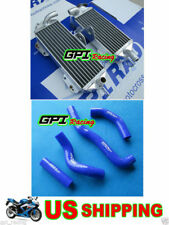 For Kawasaki KX 250 KX250 1988 1989 88 89 Aluminum Radiator & Hose Blue