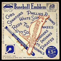 VINTAGE 1952 Baseball License Plate Topper Emblem St Louis Cardinals Ice Scraper
