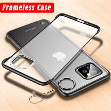 Ultra Thin Frameless Case For iPhone 11 Pro Max Transparent Matte Cover