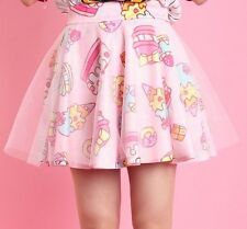 Kawaii Harajuku Lolita Skirt Macaroon Cake Ice cream Strawberry Tutu - UK SELLER
