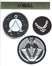 STARGATE - SG -1 - O´Neill Set Uniform Patch- Aufnäher original Replica 4-teilig