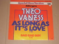"""Theo vaness-as long as it 's Love - 12"""""""