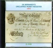 Il denaro non richiesta registro 1883 CD ROM