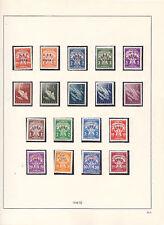 TRIESTE B 1949/52 TASSE SOGGETTI VARI 18 VALORI NUOVI GOMMA  INTEGRA PERFETTI