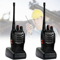 2X Walkie Talkie Long Rang Baofeng bf-888s Set 2 Way Radio Headset UHF400-470MHz