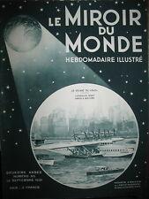 AVIATION NEW-YORK HYDRAVION GEANT Do-X MER MORTE MELIES LE MIROIR DU MONDE 1931
