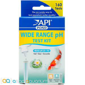 API Pond Wide Range pH Test Kit Quick Accurate Easy Koi Pond pH Levels 5.0 - 9.0