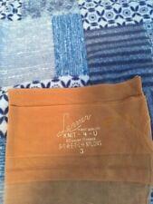 One pair vintage Lermer mesh Garter stockings 8 nude seamed