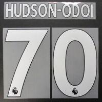 HUDSON-ODOI 70 - 17 / 18 PREMIER LEAGUE CHELSEA NAMESET WHITE = PLAYER SIZE