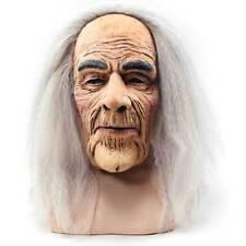 CREEPY OLD MAN MASK & HAIR, HALLOWEEN FANCY DRESS RUBBER HORROR  MASK