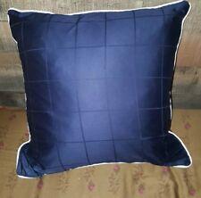 Ralph Lauren Navy Blue Windowpane Throw Pillow