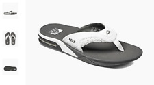 Reef Fanning Grey White Sandal Comfort Flip Flop Men's US sizes 7-17 NEW!!!