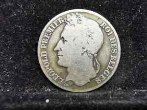 Belgium, Silver (.900), One Franc 1834, AF, MY178