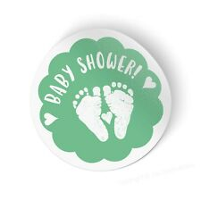 Cute Baby Feet Baby Shower Stickers - Choose Design & Pack Size (Pregnancy Ma...