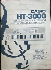 Casio HT-3000 Digital Synthesizer Keyboard Original Owners Manual Operation Book