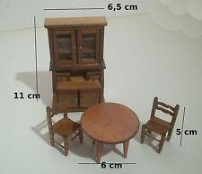 meubles en bois pour vitrine, maison de poupée,buffet, table miniatures   *B13