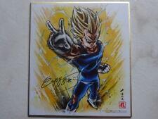 DRAGON BALL SUPER SHIKISHI ANIME CEL HAND-SIGNED by AKIRA TORIYAMA JAPAN Z