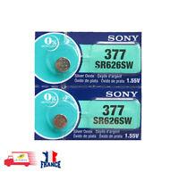 2 PILES SR626SW / SR626  377  SONY / 1.55V 0% Mercury Battery 2pcs per pack