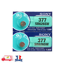 2 PILES SR626SW / SR626  377  SONY / 1.55V 0% Mercury Battery 2pcs per pack