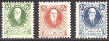 LIECHTENSTEIN #B1-3 MInt NH - 1925 Prince Johann Set