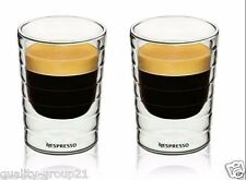 2pcs Nespresso coffee mug espresso cup thermal glass double wall 85ml ship to us