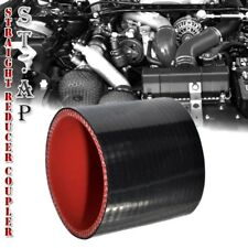 "104mm 4"" Inch Straight Silicone Hose Coupler Reducer Turbo pipe Intake Black Red"