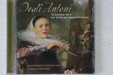 Degli ANTONI 12 Sonatas Op 4 Alessandro Ciccolini il coro d 'arcardia box27