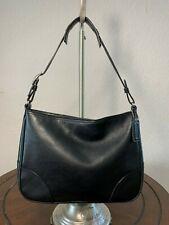 Coach Classic Black Leather Slim Carry-all Tote Hobo Shoulder Handbag 8148
