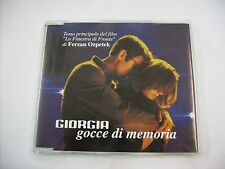 GIORGIA - GOCCE DI MEMORIA - CD SINGLE PROMO EXCELLENT CONDITION 2003