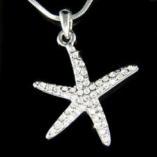 w Swarovski Crystal ~STARFISH~ Ocean Star Fish Beach Wedding Bridesmaid Necklace