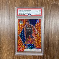 Zion Williamson 2019 Mosaic Reactive Orange Prizm ROOKIE RC #209 PSA 10 GEM MINT