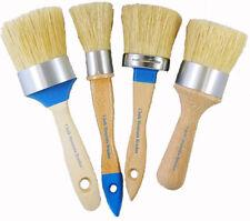 Chalk Paint Furniture Brushes Kit 4 Boar Bristles Paint Brushes 4 Sizes/Styles