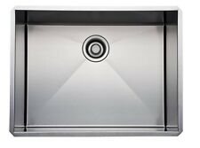 Rohl RSS2418 SB Brushed Stainless Steel Kitchen Sink with Tangent Edge