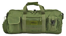 "EastWest USA ""The Tactical Duffle Bag"" Duffel Camping Utility Bag MOLLE OD Green"