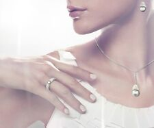 Genuine SWAROVSKI Piano Light Gray Pearl Ring, Size 55