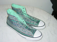 Mens Converse 148842F All Star High Peacock Acor Striped Shoes! Size 10