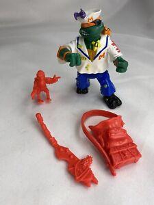 TMNT Midshipman Michelangelo Action Figure 1991 Playmates Toys Used