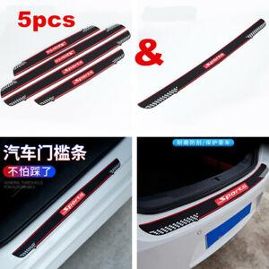 5pc Car Accessories Door Sill Bumper Guard Body Scratch Protector Rubber Pad