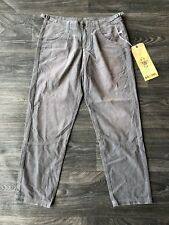 NWT Da Nang Women's Corduroy Cropped Pants Deep Grey