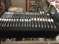 1847 Rogers Bros IS FIRST LOVE Silverware Flatware Silver Plate 49 Pieces