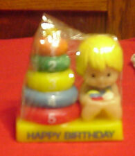 Enesco Country Cousins Scooter Birthday Candle 5 Years Old
